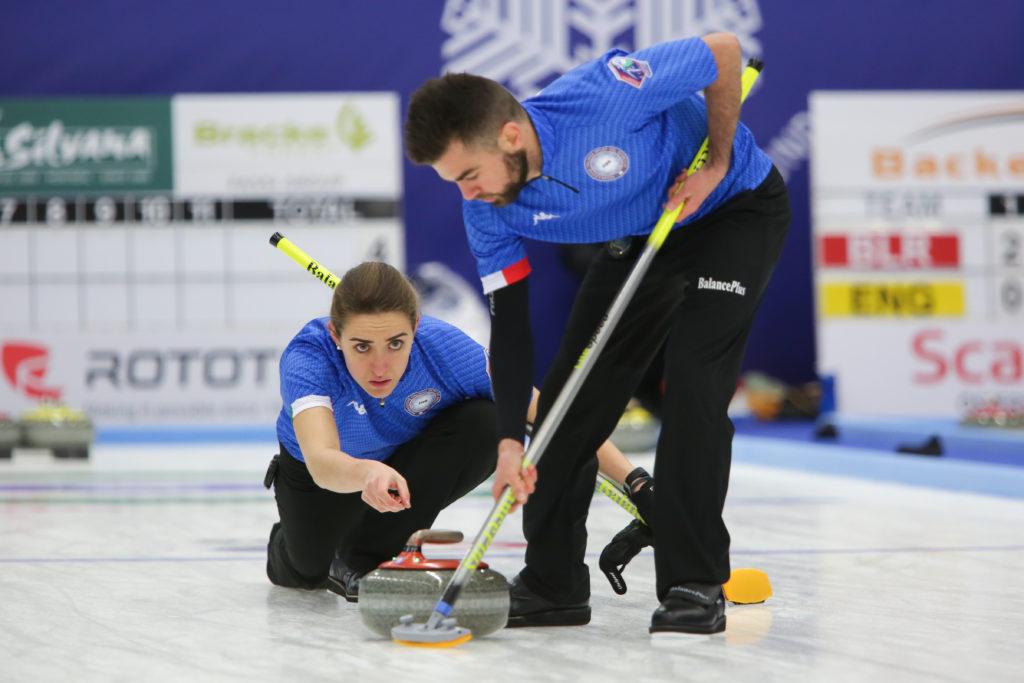 Curling mondiale doppio misto italia