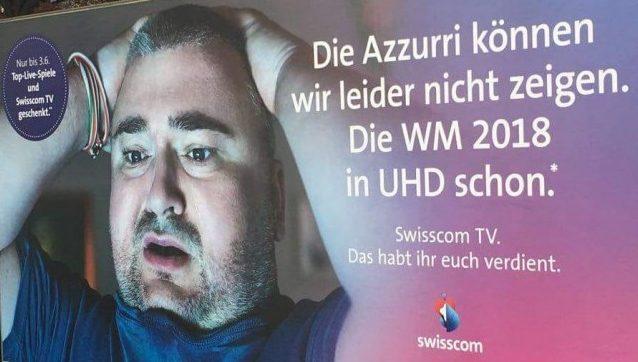 Swisscom sfottò Italia