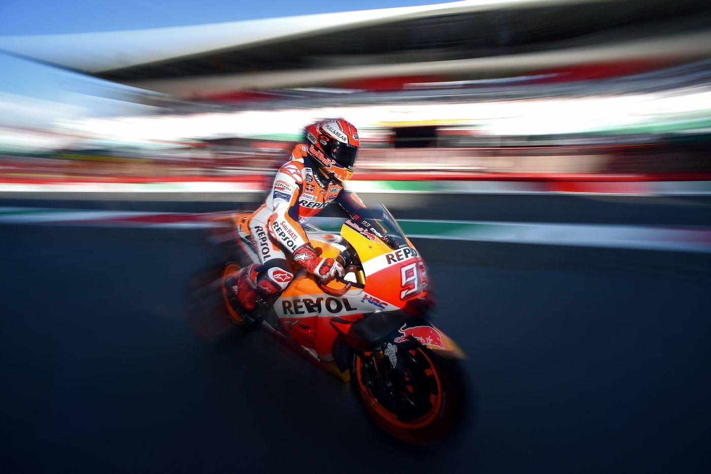 MotoGp: al Mugello Marquez vola nelle terze libere, Iannone secondo