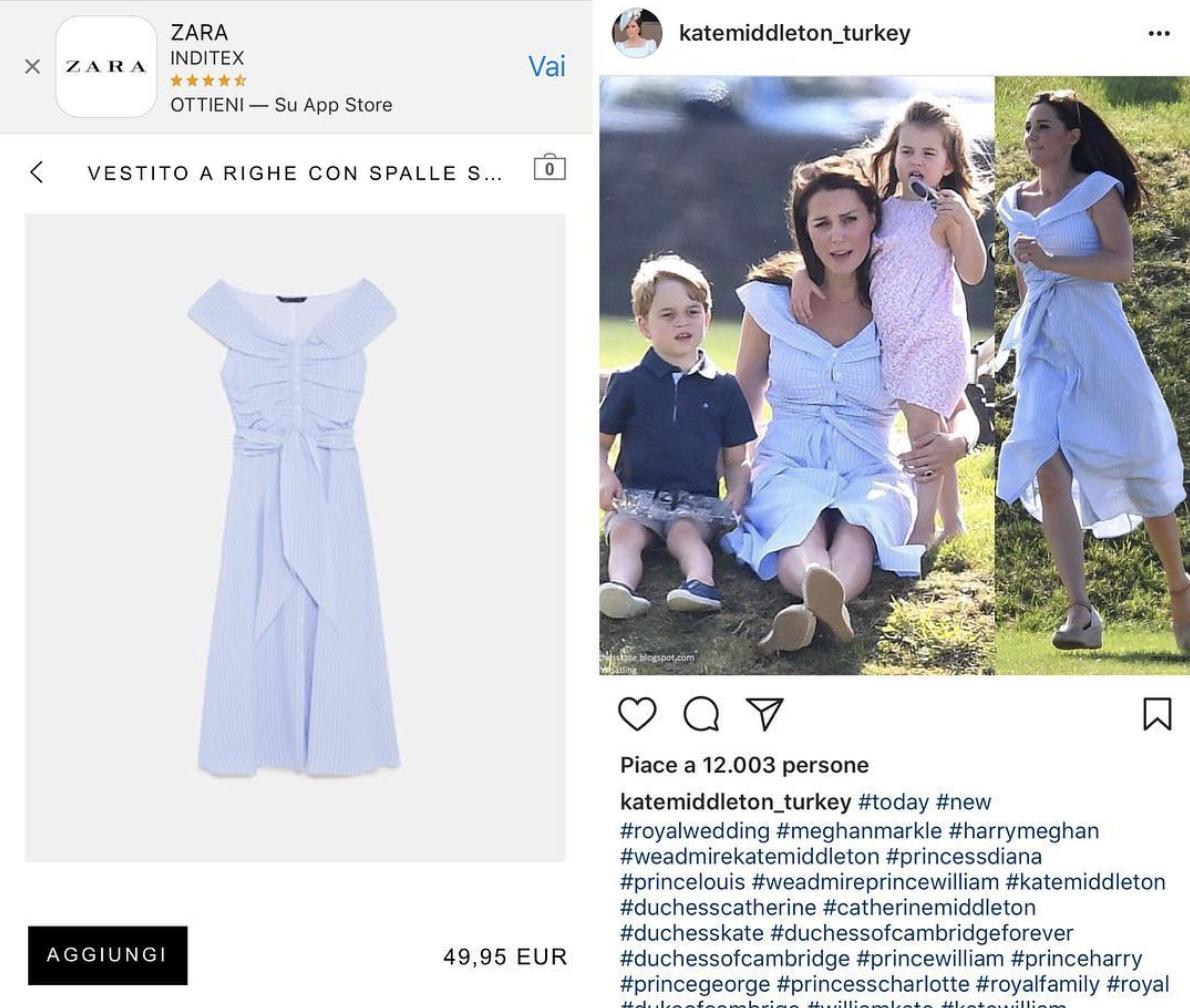 Alla Middleton Blu – Moda Abiti Zara Kate Abito FTl3cK1J