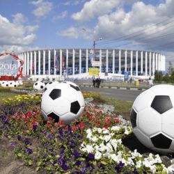 Mondiali Russia 2018, lo scenografico ingresso dello Stadio