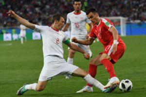 Mondiali Russia 2018 – L'esultanza di Xhaka e Shaqiri fa dis