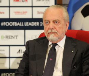 De Laurentiis al convegno Football Leader 2018