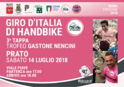 Giro d'Italia di Handbike 2018 |  Prato si prepara al grande evento