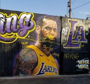 Murales LeBron James Los Angeles