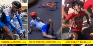 Nibali cadute Mondiali 2013 Olimpiadi 2016 Tour de France 2018