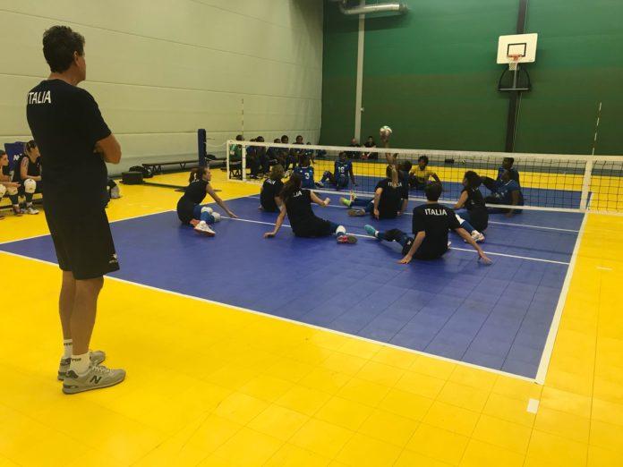 Sitting Volley amichevole Italia-Ruanda