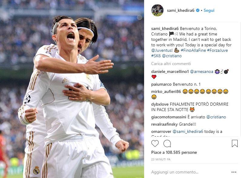 Ronaldo alla Juventus: le reazioni social dei giocatori dopo l'ufficialità
