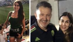 Il triangolo scabroso del ct del Messico ai Mondiali 2018 |  Osorio in Russia con moglie