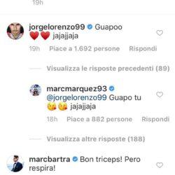 commento jorge lorenzo foto marc marquez