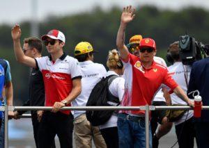 Raikkonen e Leclerc