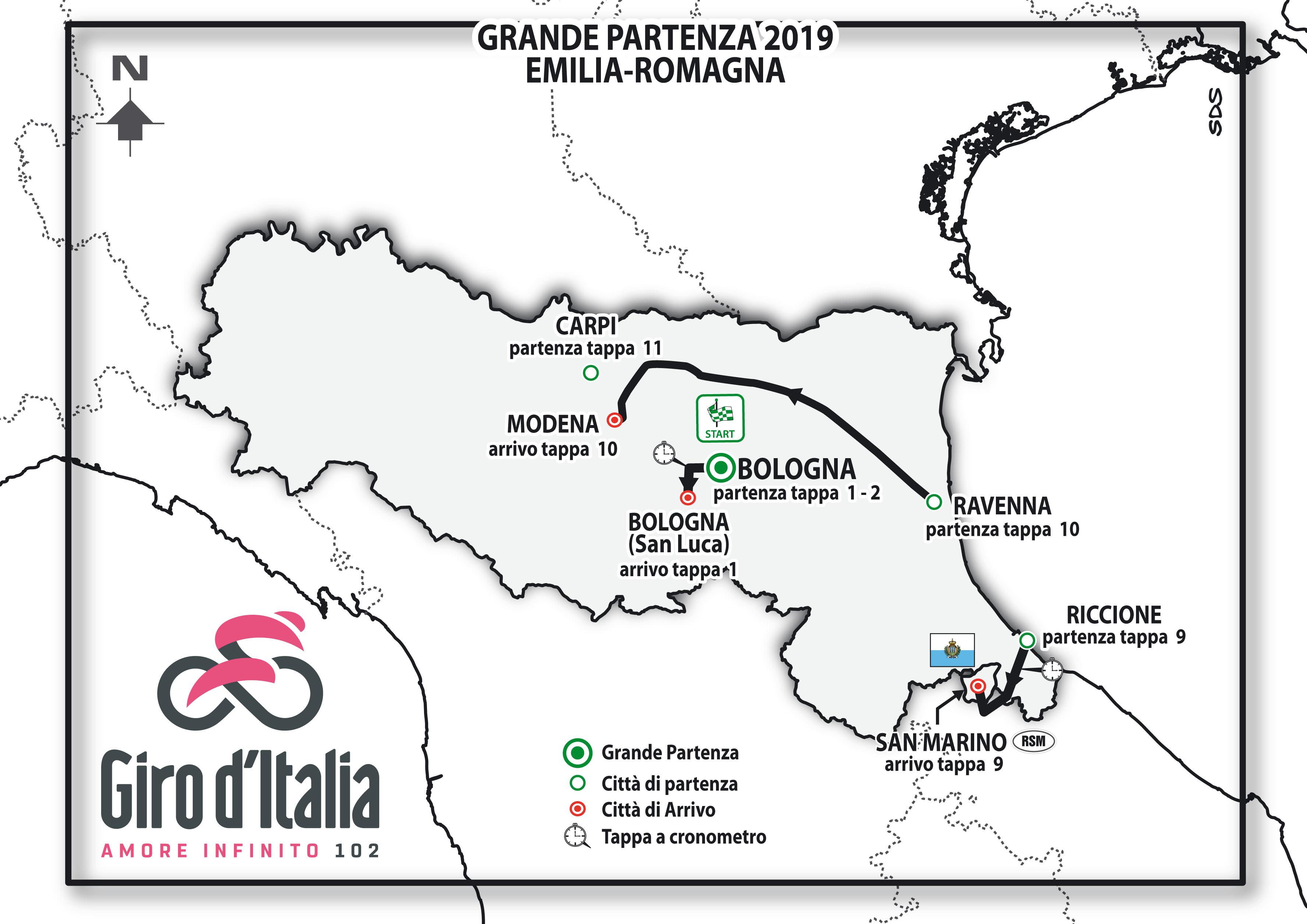 Calendario Giro D Italia.Giro D Italia 2019 Percorso E Altimetria Della Grande