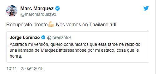 marc marquez risposta lorenzo