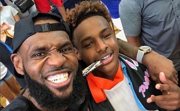 LeBron James e figlio jr