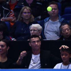 Cristiano Ronaldo e famiglia alle ATP World Tour Finals