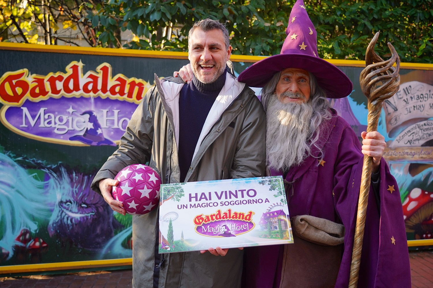 Gardaland Magic Winter - Bobo Vieri primo ospite al ...