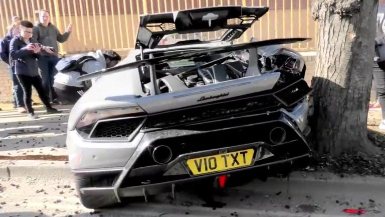 Lamborghini huracan Performante incidente londra