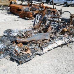 Burned Ferrari F355