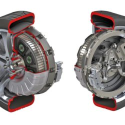 motore elettrico a ruota