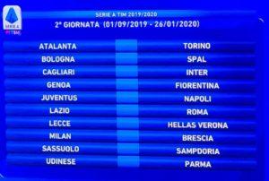 Calendario Serie A Tim 2019.Calendario Serie A 2020 18 Sky