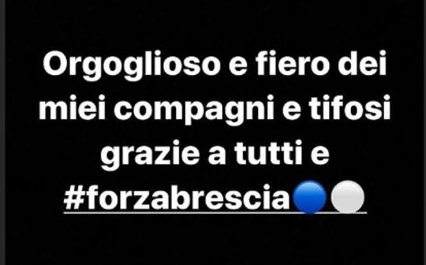 Balotelli messaggio Brescia