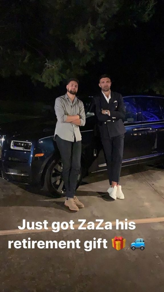 Klay Thompson Zaza Pachulia Rolls Royce
