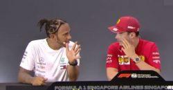Formula 1 – Hamilton impressionato da Leclerc a Singapore, s