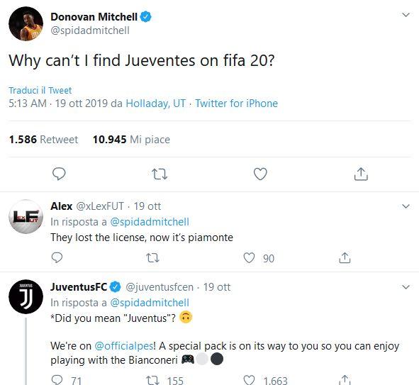 Donovan Mitchell Juventus
