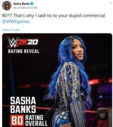 WWE 2K20 – L'overall di Sasha Banks è troppo basso, la Boss