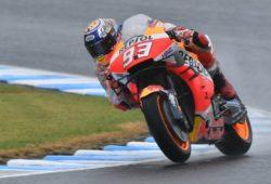 MotoGp – Marquez davanti a tutti nel warm up, migliora Valentino Rossi [TEMPI]