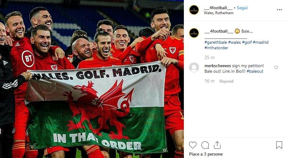 Bale bandiera Galles Golf Madrid