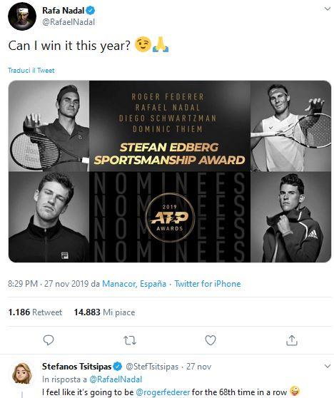 Nadal Stefan Edberg Sportmanship Award