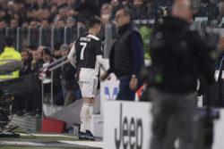 Juventus-Milan |  scoppia il caso Cristiano Ronaldo |  il portoghese lascia lo stadio prima