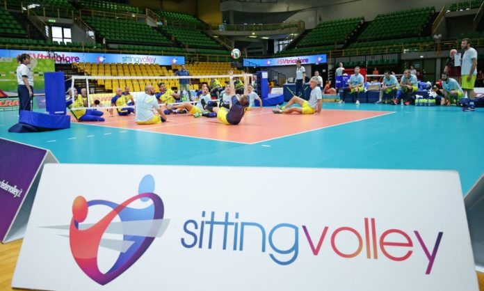 sitting volley