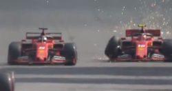 Formula 1, scontro fratricida tra Vettel e Leclerc in Brasil