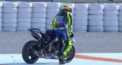 MotoGp – Test Valencia, problemi in pista per Valentino Ross