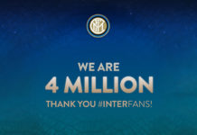 Inter 4 milioni follower Instagram