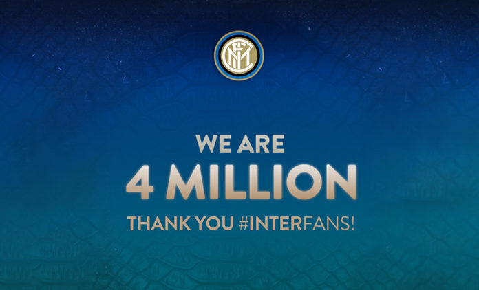 Inter 4 milioni follower Instagram