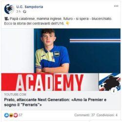 Prato attaccante Sampdoria