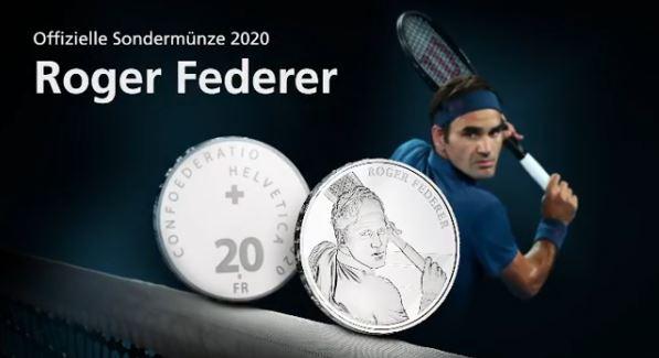 Roger Federer moneta