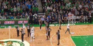Boston Celtics tifoso lancia bottiglia in campo