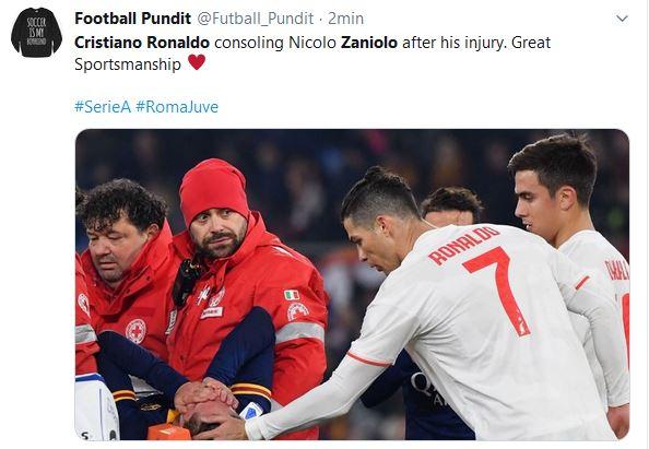 Cristiano Ronaldo infortunio Zaniolo