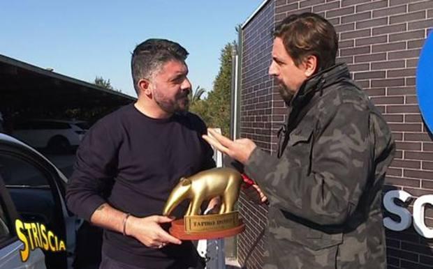 Gattuso Tapiro d'Oro Striscia la Notizia