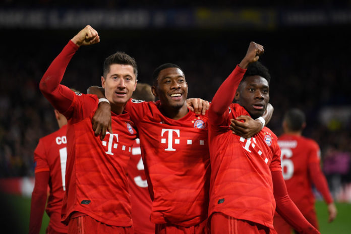 Bayern Monaco Lewandowski Alaba Davies