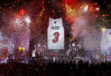 Miami Heat ritiro maglia Dwyane Wade