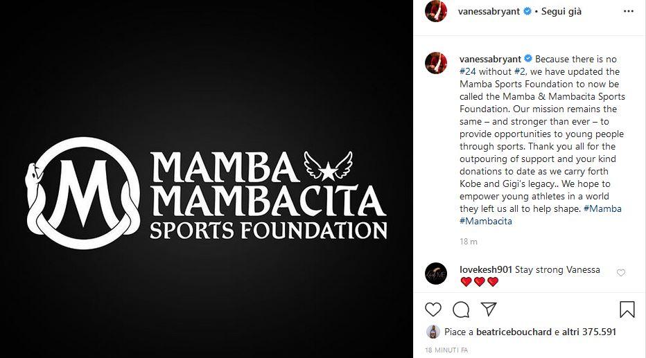 Kobe Bryant Gianna Bryant Mamba Mambacita foundation