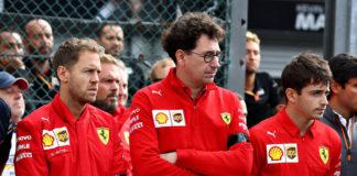 Vettel Binotto Leclerc