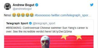 Andrew Bogut tweet Sun Yang