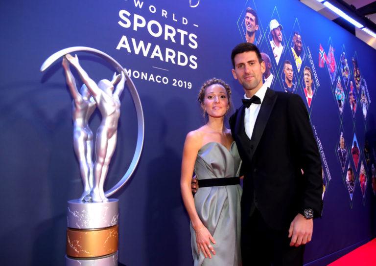 Djokovic e la moglie Jelena