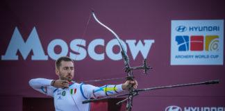 Mauro Nespoli d'argento nella finale di World Cup a Mosca (Rus)